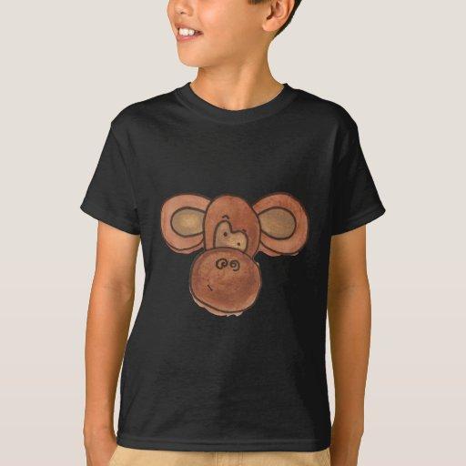 Cute Watercolor Cartoon Monkey Kids T-shirt