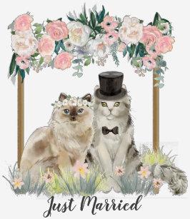 5fba407713a6 Cat Wedding T-Shirts - T-Shirt Design & Printing   Zazzle