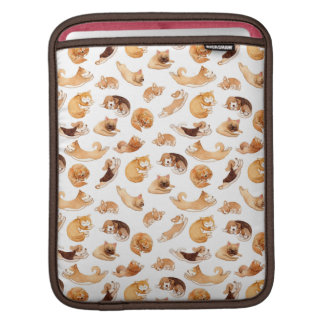 Cute Watercolor Dogs Illustrated Pattern iPad Sleeve