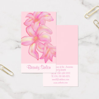 Cute watercolor floral business card