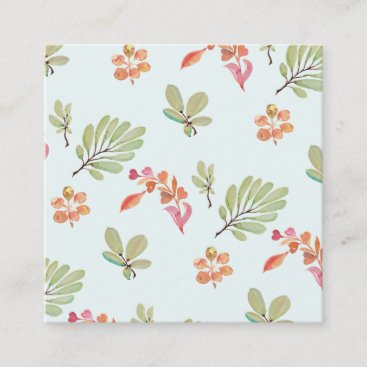 Cute Watercolor Floral Pattern Mommy Calling Card