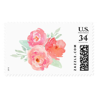 Cute Watercolor Flower Bouquet Stamp