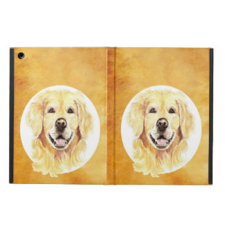 Cute Watercolor Golden Retriever Dog Pet Animal Case For iPad Air