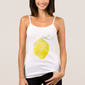 Cute watercolor lemon Spaghetti TankTop for summer
