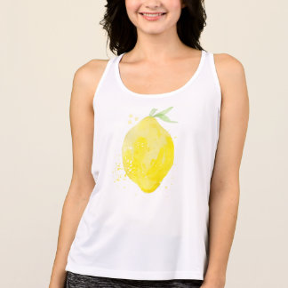 Cute watercolor lemon TankTop for summer