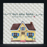 """Cute Watercolor New Home Documents 3 Ring Binder<br><div class=""""desc"""">This design features a cute watercolor home in blue and yellow,  script typography &quot;our new home, &quot; and the new home owners&#39; names.</div>"""