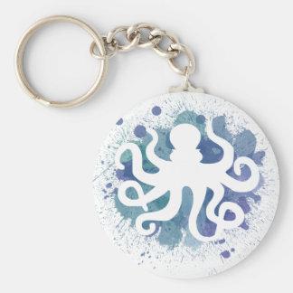 Cute Watercolor Octopus Design Keychain
