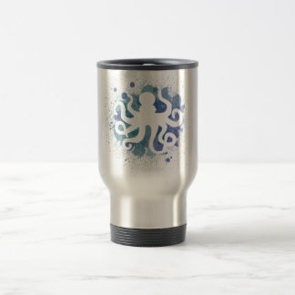 Cute Watercolor Octopus Design Travel Mug