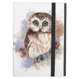 Cute Watercolor Owl Bird Nature art Bird-watcher iPad Air Cover