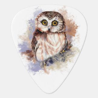 Cute Watercolor Owl Bird Nature art Pick