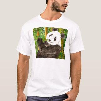Cute Watercolor Panda in Bamboo Forest T-Shirt
