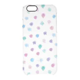 Cute Watercolor Polka Dots iPhone 6 Clear Clear iPhone 6/6S Case