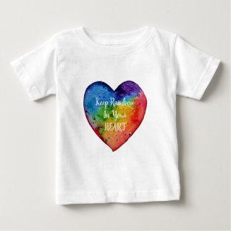 Cute Watercolor Rainbow Heart Baby T-Shirt