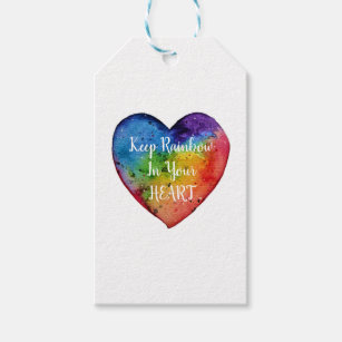 rainbow heart gift tags gift enclosures zazzle