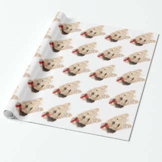 Cute Watercolor Yorkie Yorkshire Terrier Dog Wrapping Paper