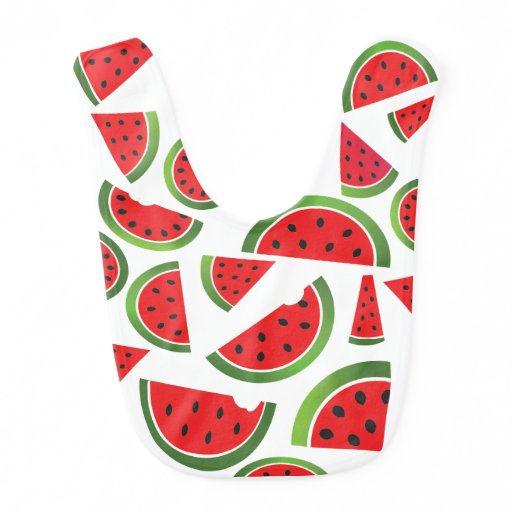 Cute Watermelon Fruit Baby Bib
