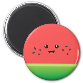 Cute Watermelon, Happy and Cheerful 2 Inch Round Magnet
