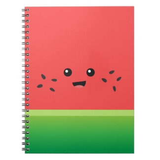 Cute Watermelon, Happy and Cheerful Notebook