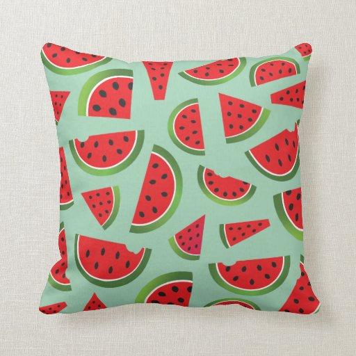 Cute Watermelon Home Decor Throw Pillow Zazzle