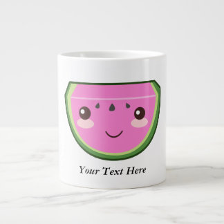 Cute Watermelon Illustration Large Coffee Mug