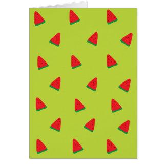 cute watermelon pattern card