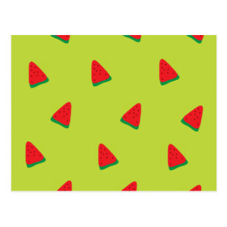 cute watermelon pattern postcard