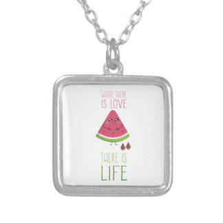 Cute Watermelon Silver Plated Necklace