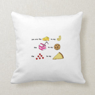 cute way to say you care about someone . throw pillow