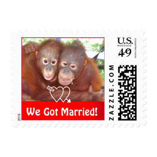 Cute Wedding Announcement Postage