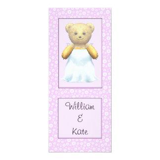 Cute Wedding Bride Teddy Bear Card