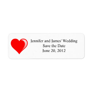Cute Wedding Clipart return Address Labels