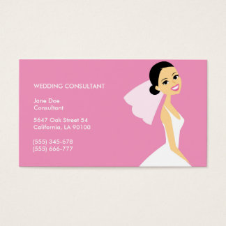 Cute Wedding Consultant Business Card