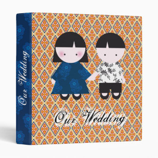 Cute wedding couple binder