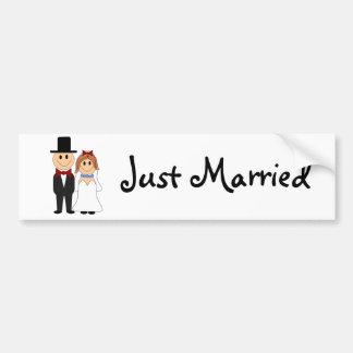 Cute Wedding Couple Bumper Stickers