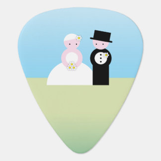 Cute wedding couple guitar pick