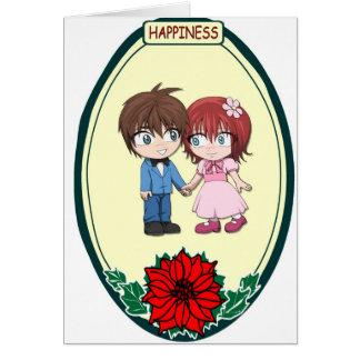 Cute wedding couple, Happiness Card