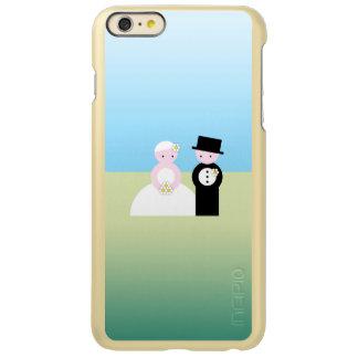 Cute wedding couple incipio feather shine iPhone 6 plus case