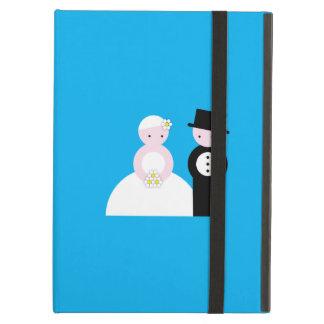 Cute wedding couple iPad air covers