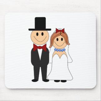 Cute Wedding Couple Mousepad