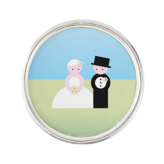 Cute wedding couple pin