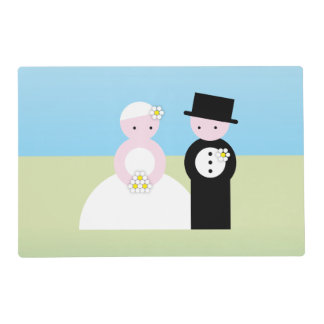 Cute wedding couple placemat