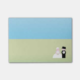 Cute wedding couple post-it® notes