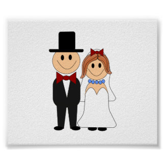 Cute Wedding Couple Poster
