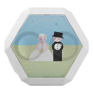 Cute wedding couple white bluetooth speaker
