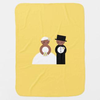Cute wedding couple receiving blankets