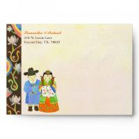 Cute Wedding Invitation Envelope(5.25x7.25) envelope