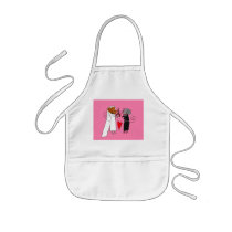 Cute Wedding Mice Kids' Apron