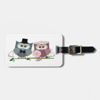 Cute Wedding Owls Bag Tag