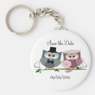 Cute Wedding Owls Keychain