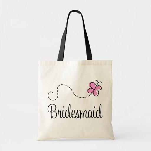 Cute Wedding Party Bridesmaid Totebag Gift Bag